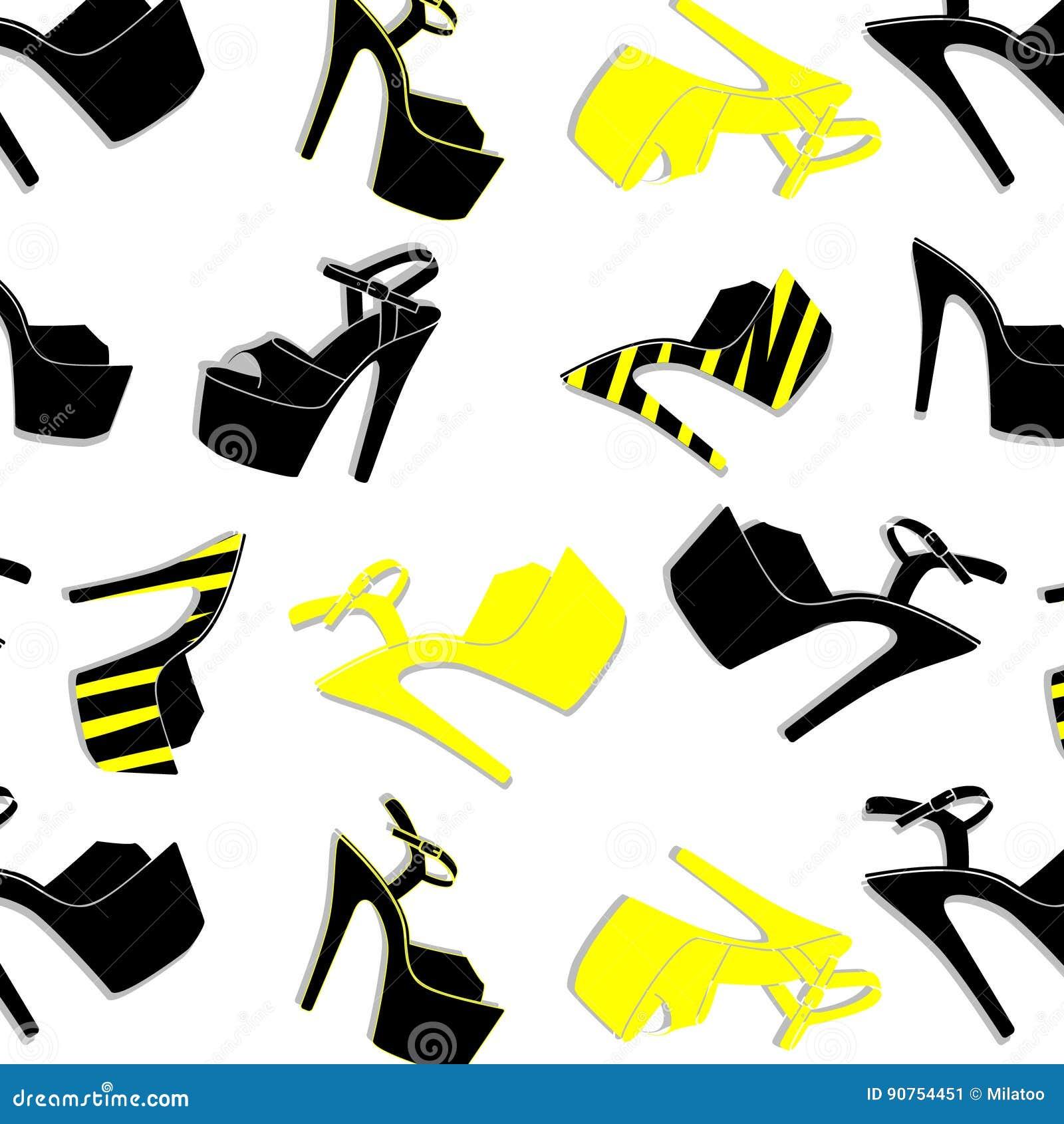 f6fffee796d Vector Pole Dance Shoes. High Heels Pattern For Striptease