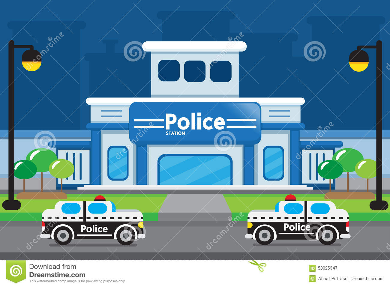 VECTOR : POLICE STATION Stock Vector - Image: 58025347