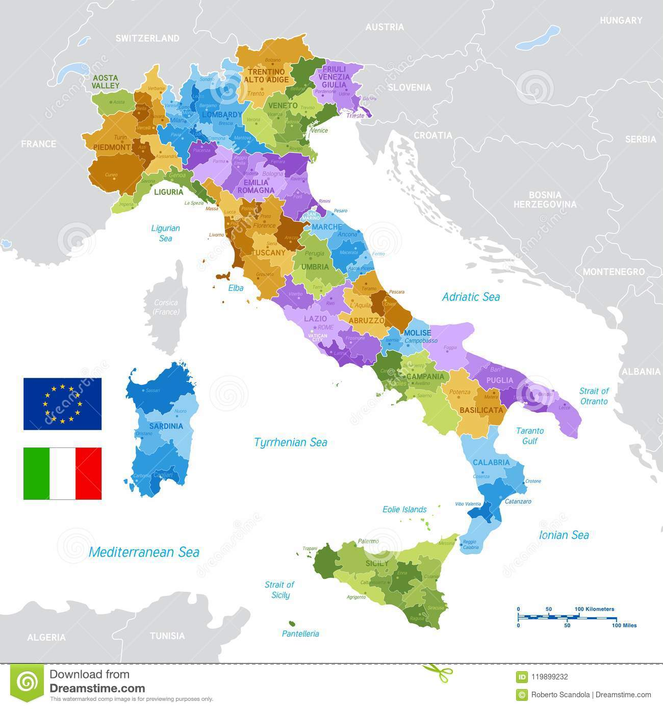 Map Of Provinces In Italy.Vector Green Map Of Italy Stock Vector Illustration Of Plan 119899232