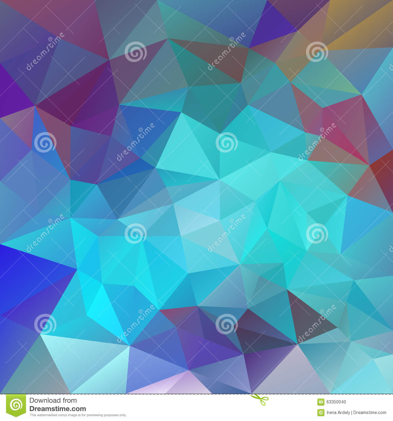 vector polygon background with irregular tessellations