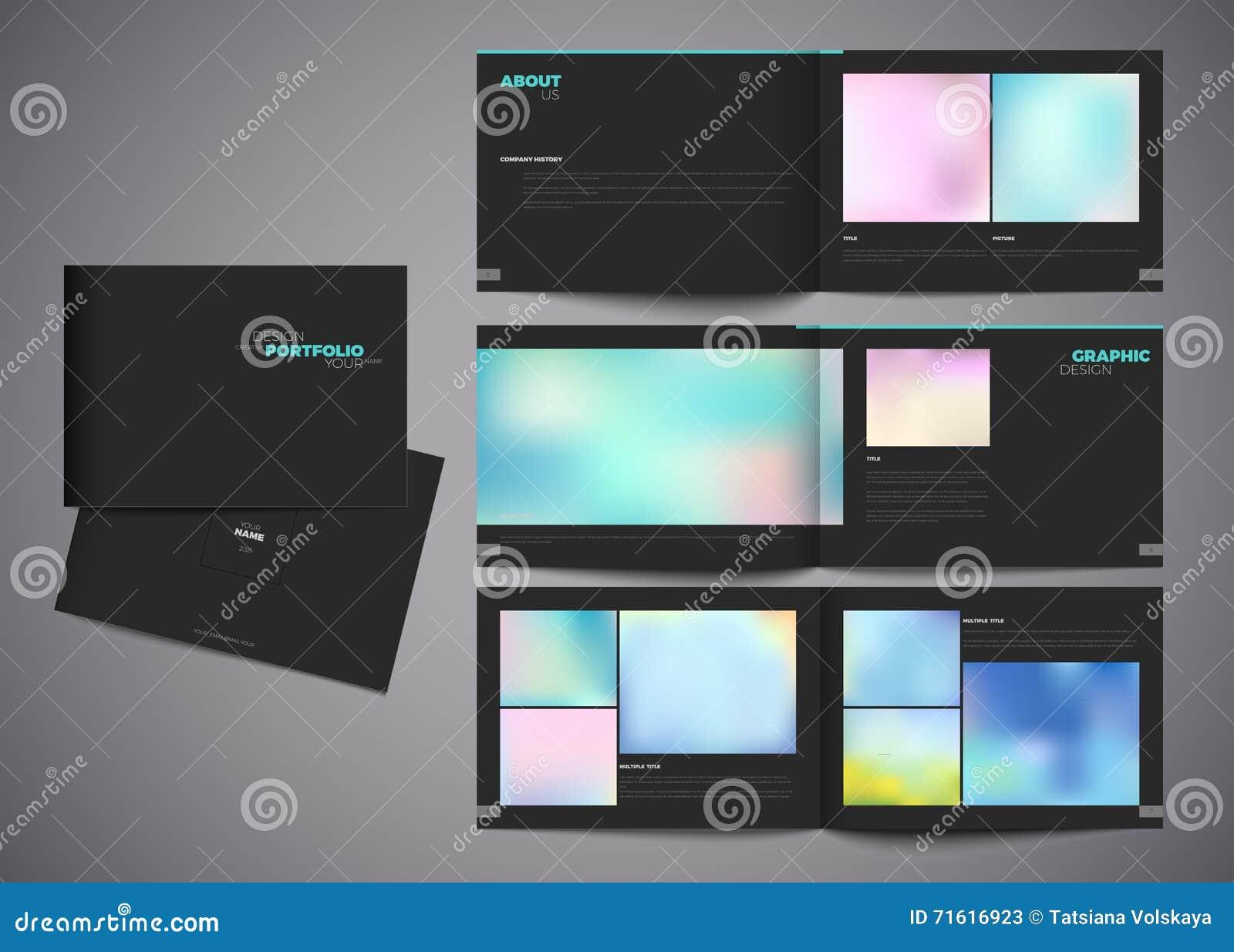 Vector Portfolio Template Modern Design Stock Illustration