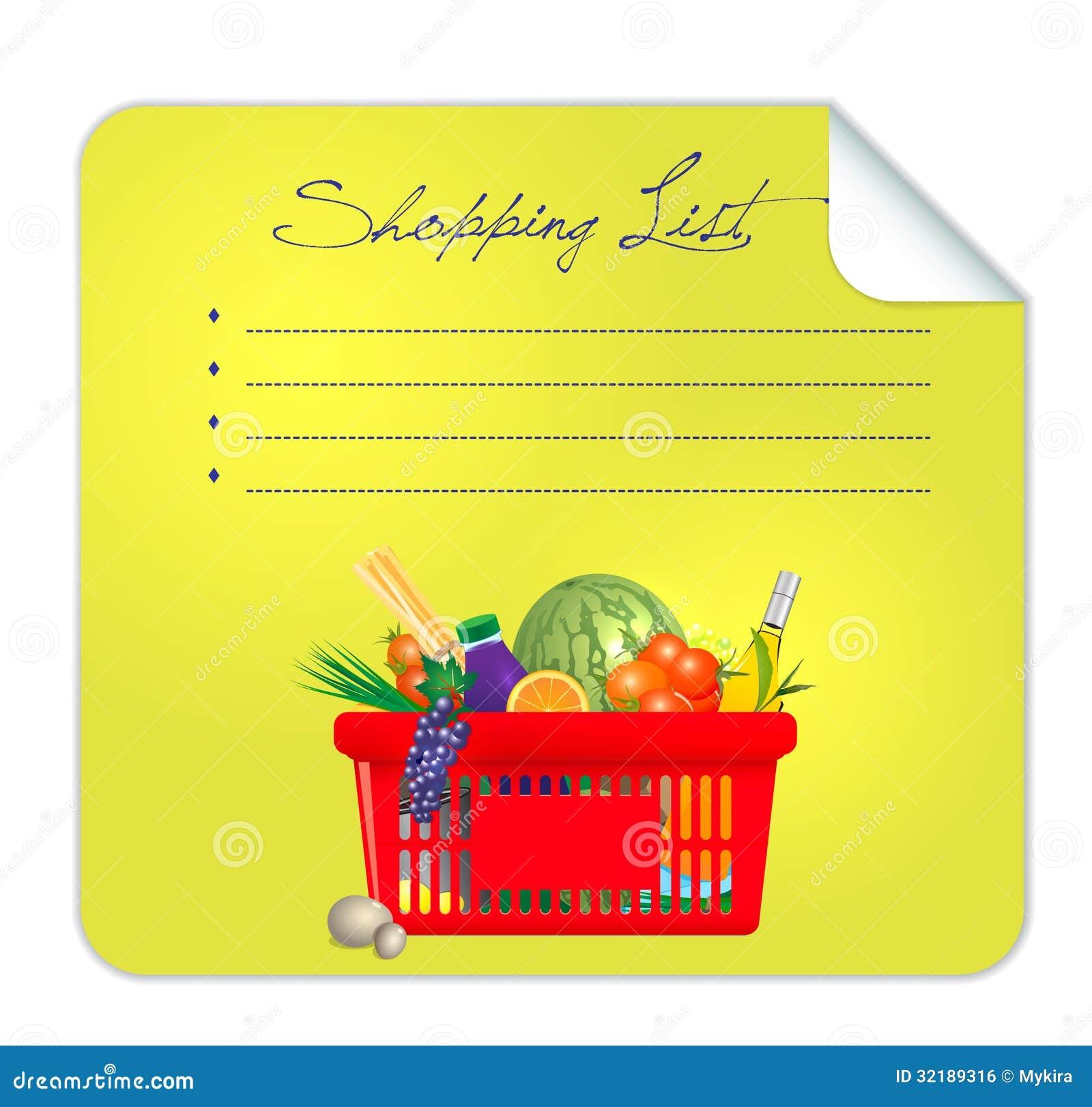 Vector Postit Shopping List Illustration Royalty Free Image – Shopping List Format