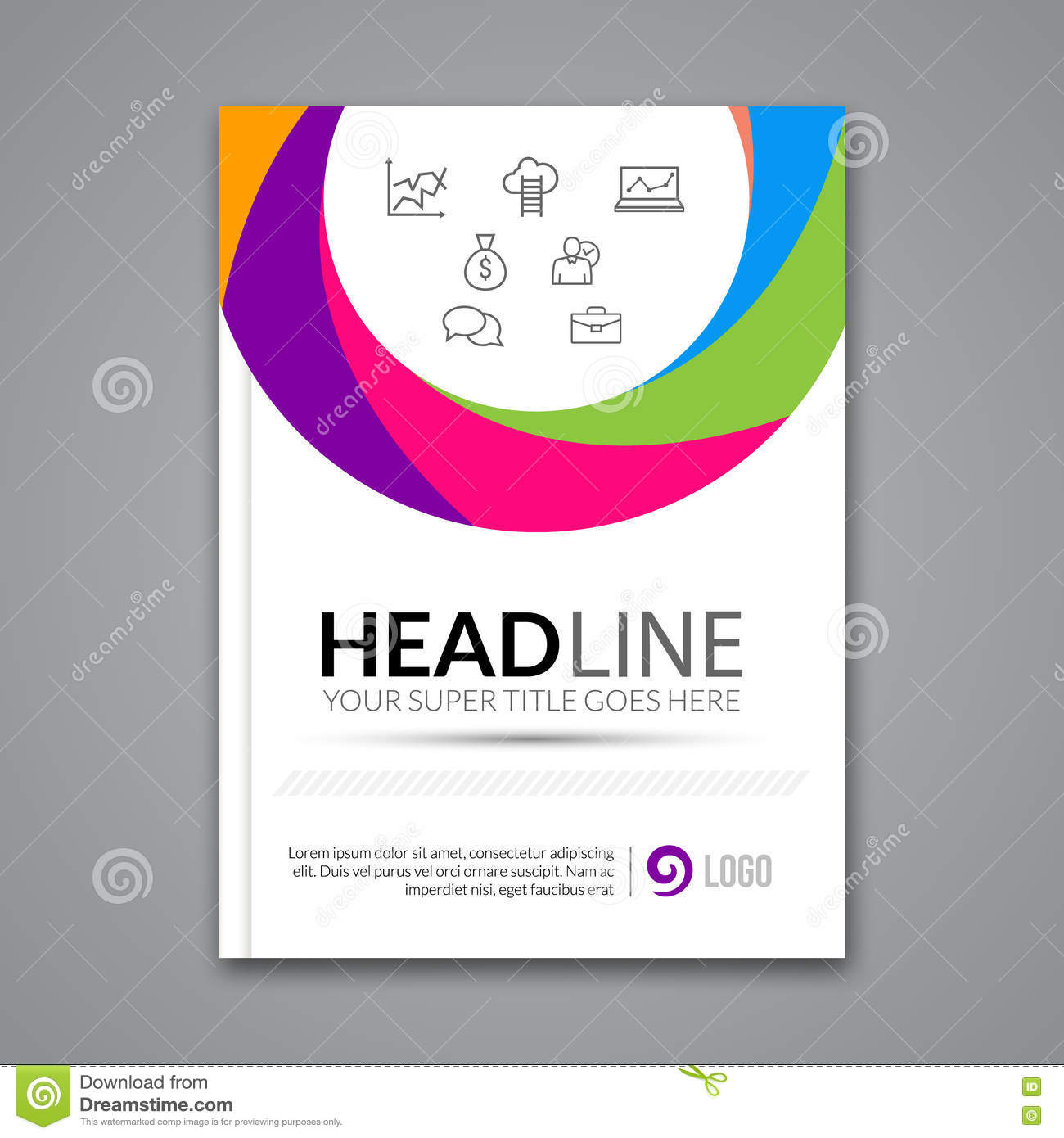 Business Poster Template For PowerPoint