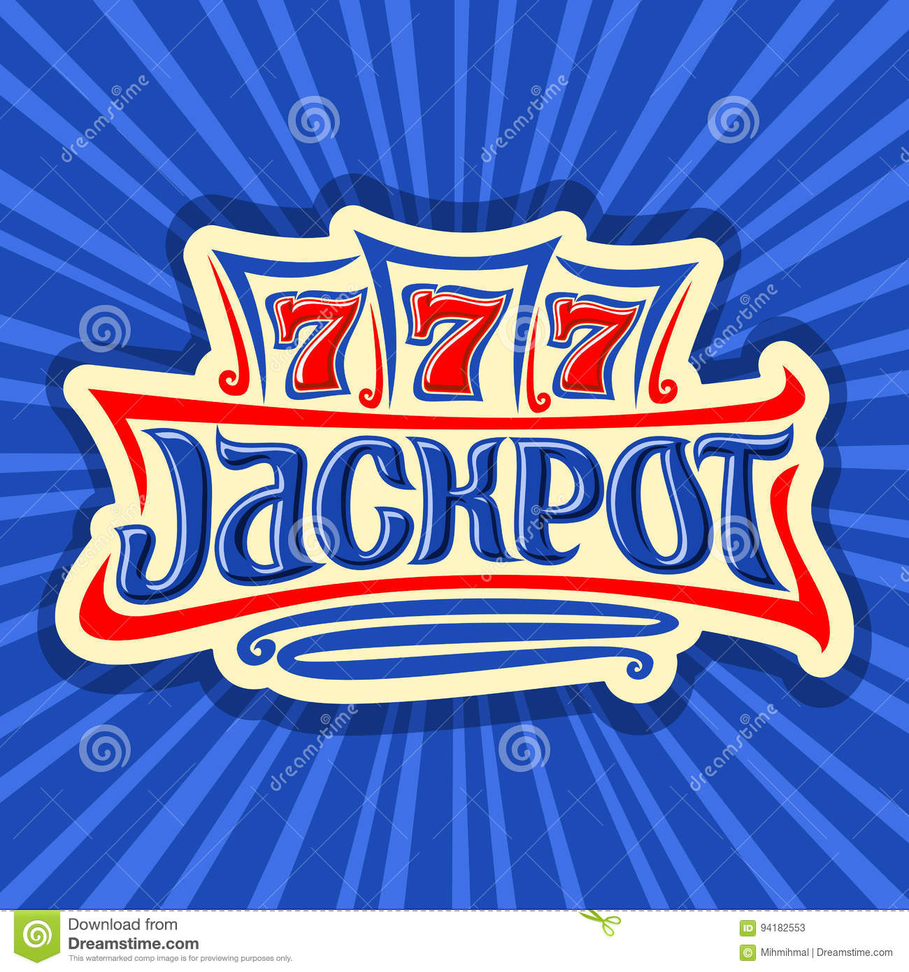 Vector poster for Jackpot theme