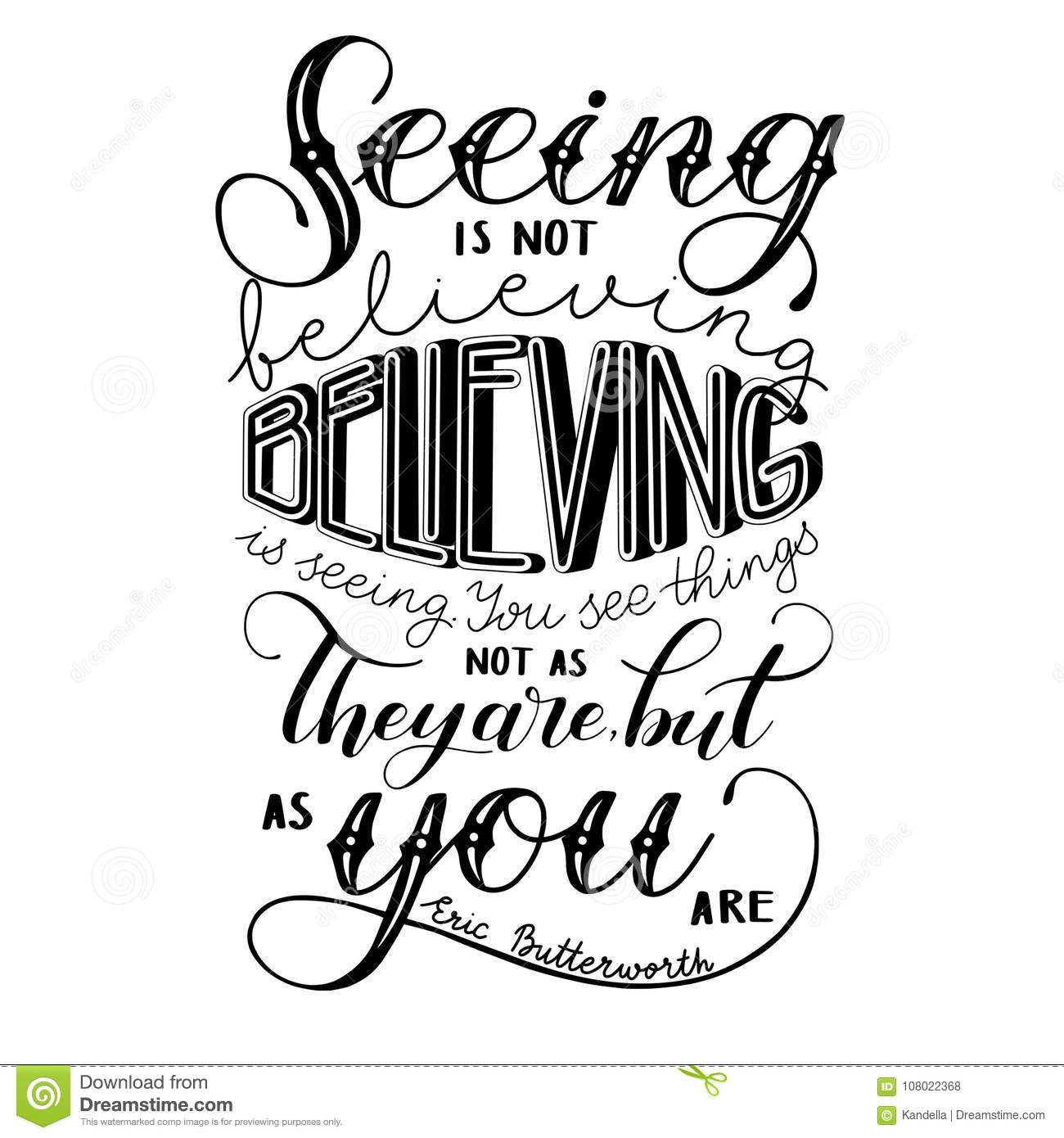 Seeing Is Not Believing >> Vector Poster Seeing Is Not Believing Stock Vector Illustration Of