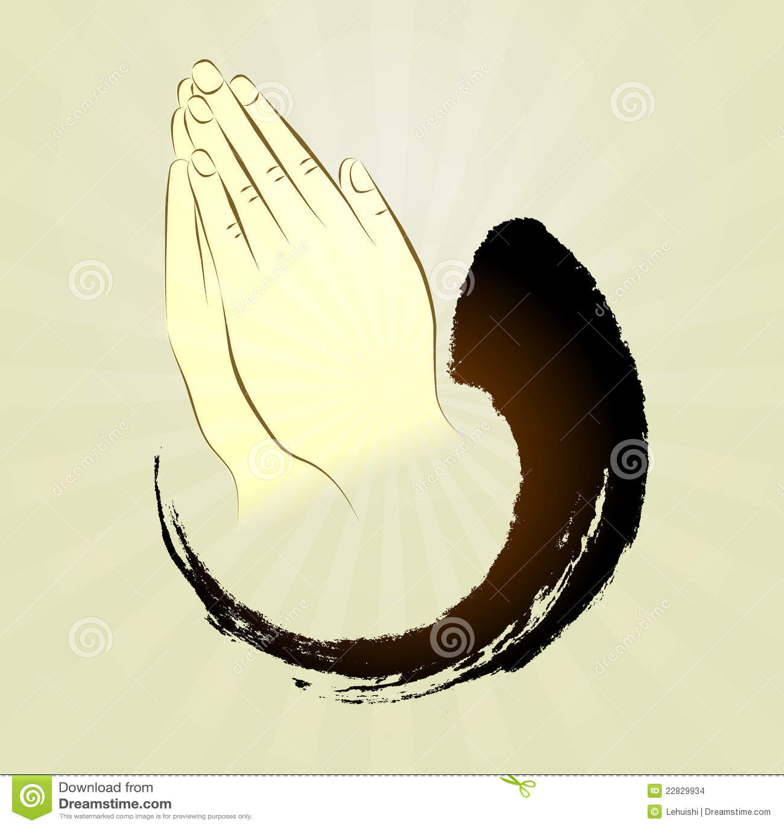 Vector: Praying Hands,...