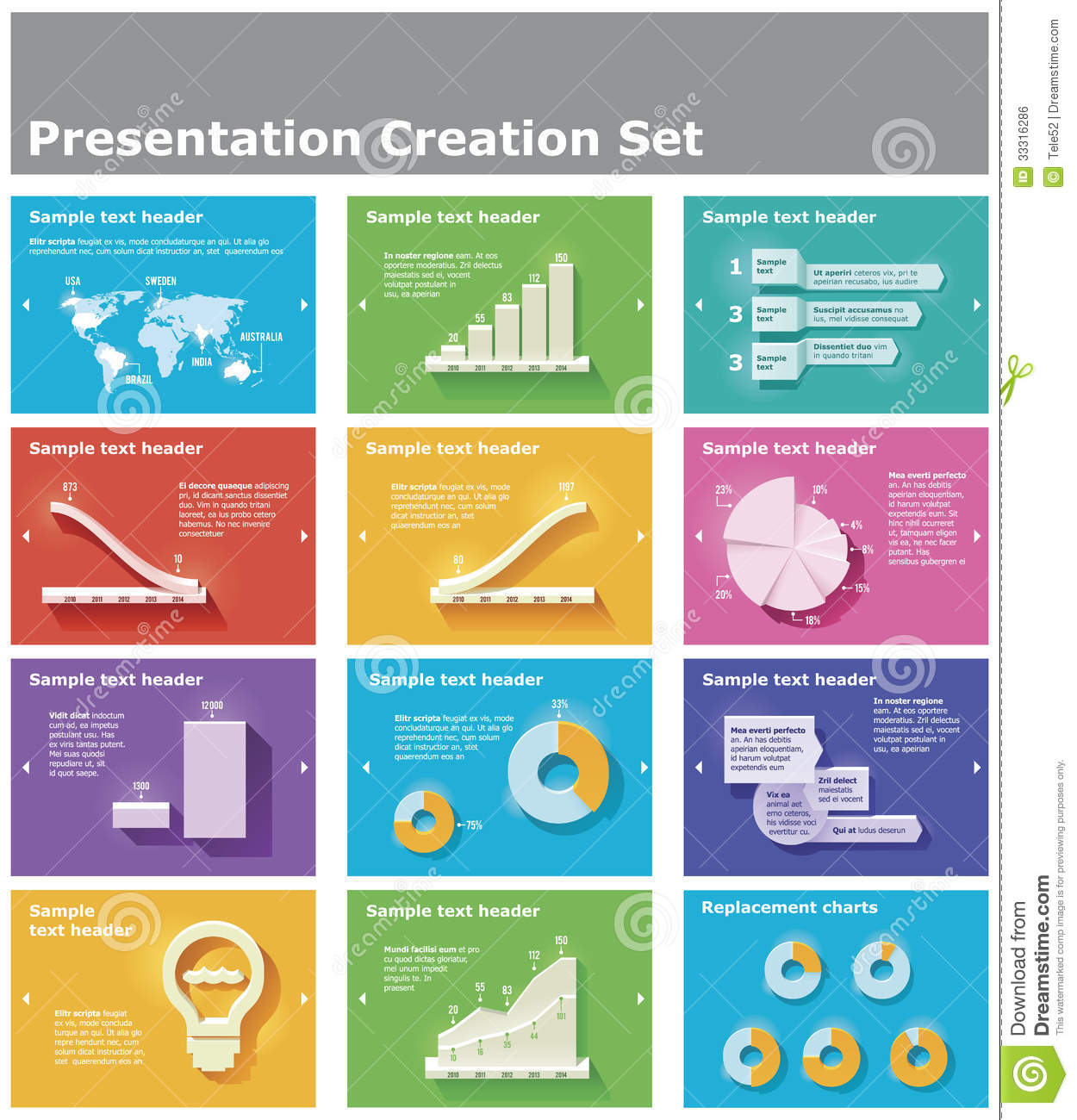 Vector Presentation Elements Royalty Free Stock Image - Image ...