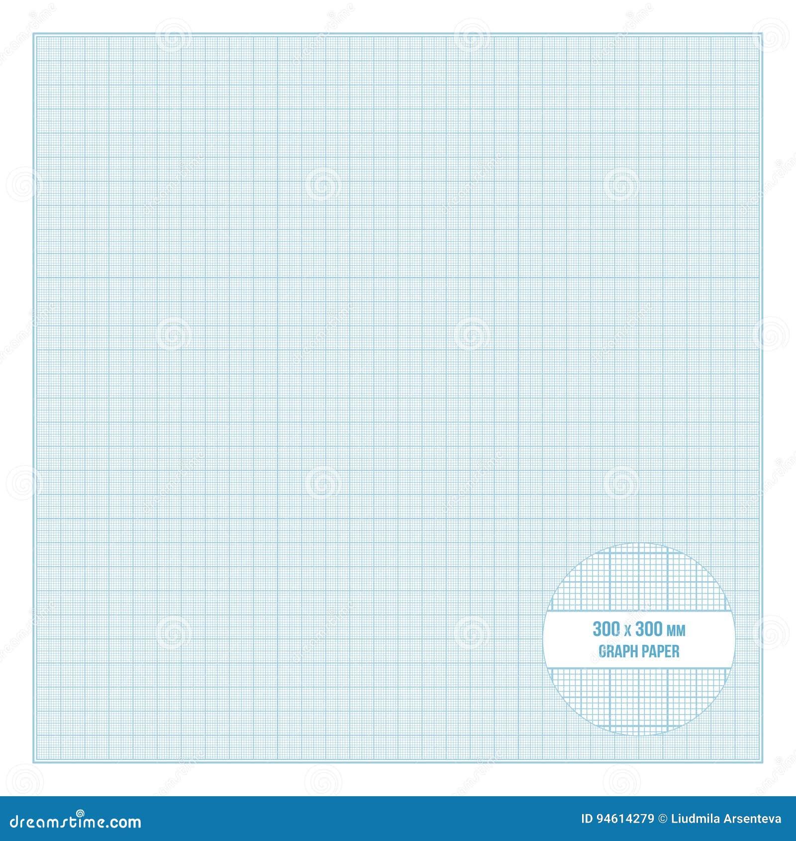 vector printable metric graph paper 30x30 cm size stock
