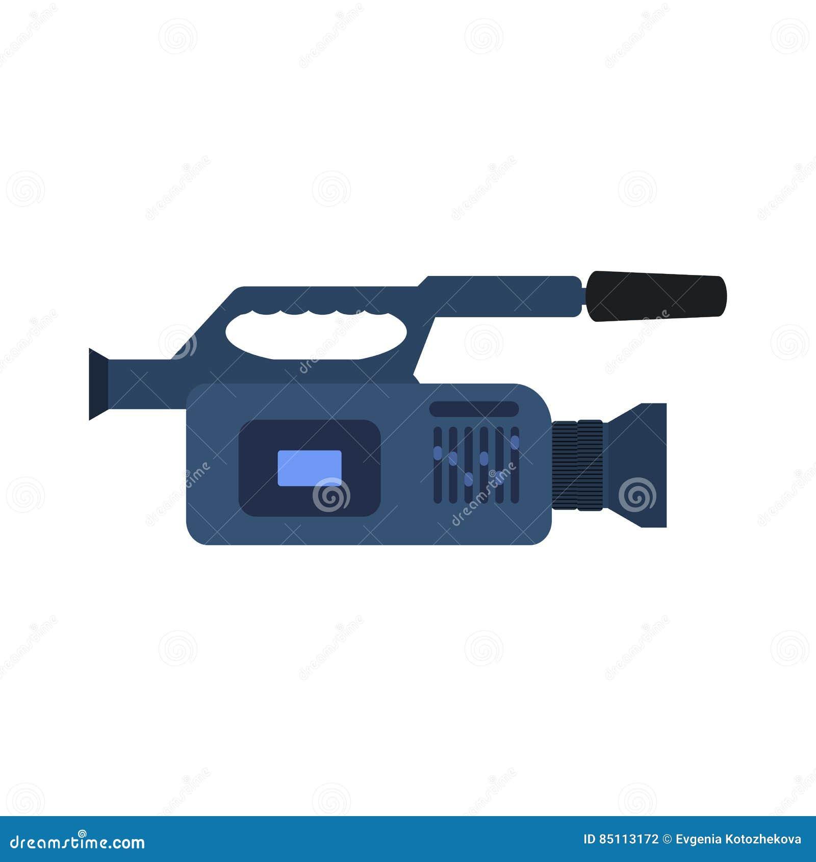 Vector professional video camera icon