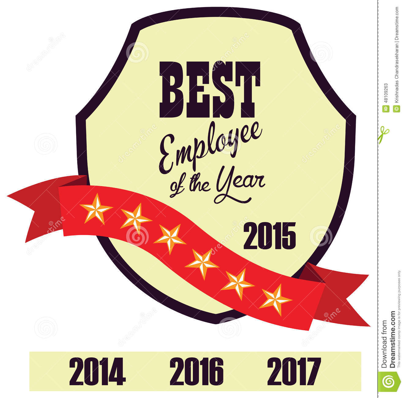 vector promo label of best employee service award of the