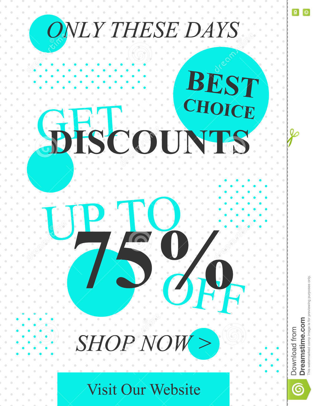 Vector promotional Get Discounts off banner