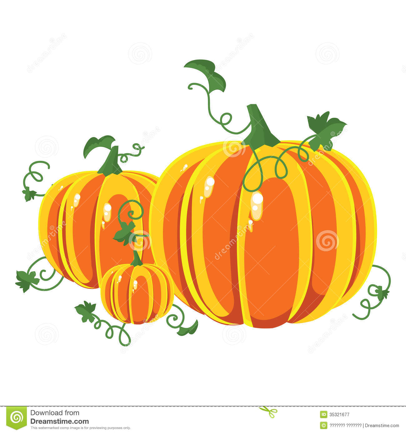Vector Pumpkins Three ...