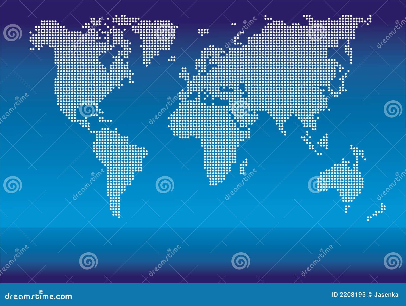 Vector punteado del mundo