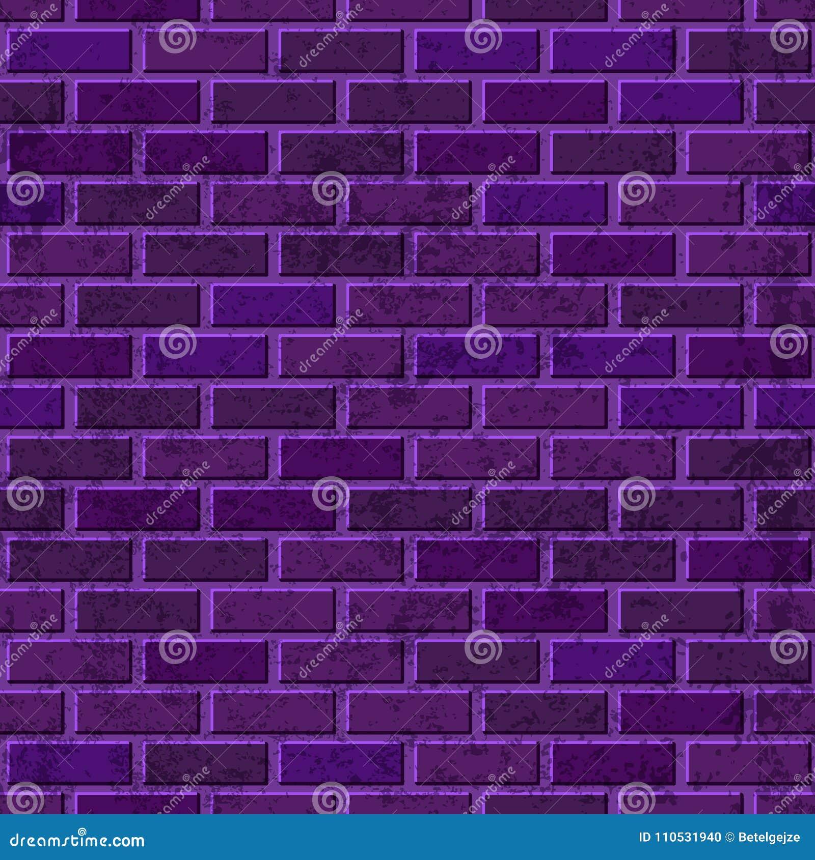Vector purpere bakstenen muur naadloze textuur Abstracte architectuur en zolder binnenlandse violette achtergrond
