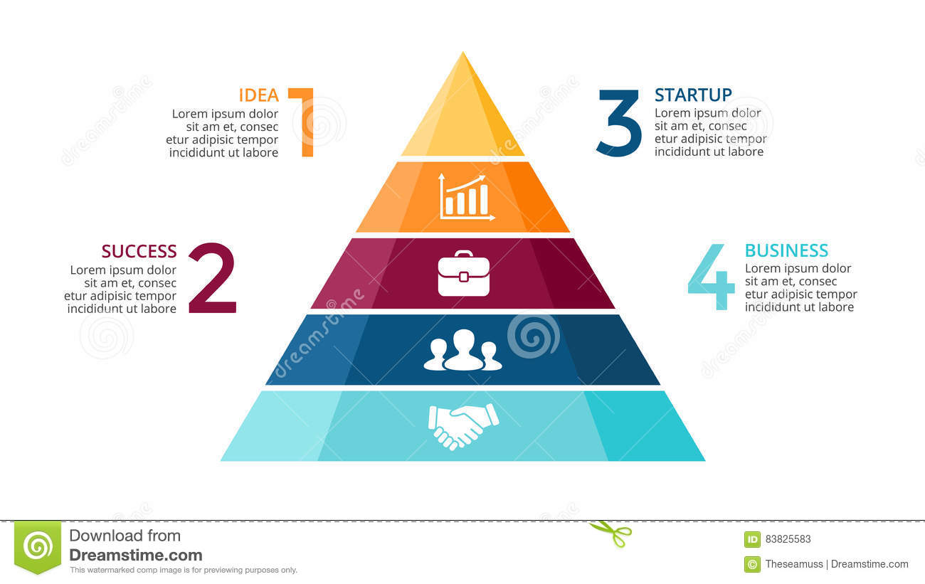 vector pyramid up arrows infographic diagram chart triangle graph