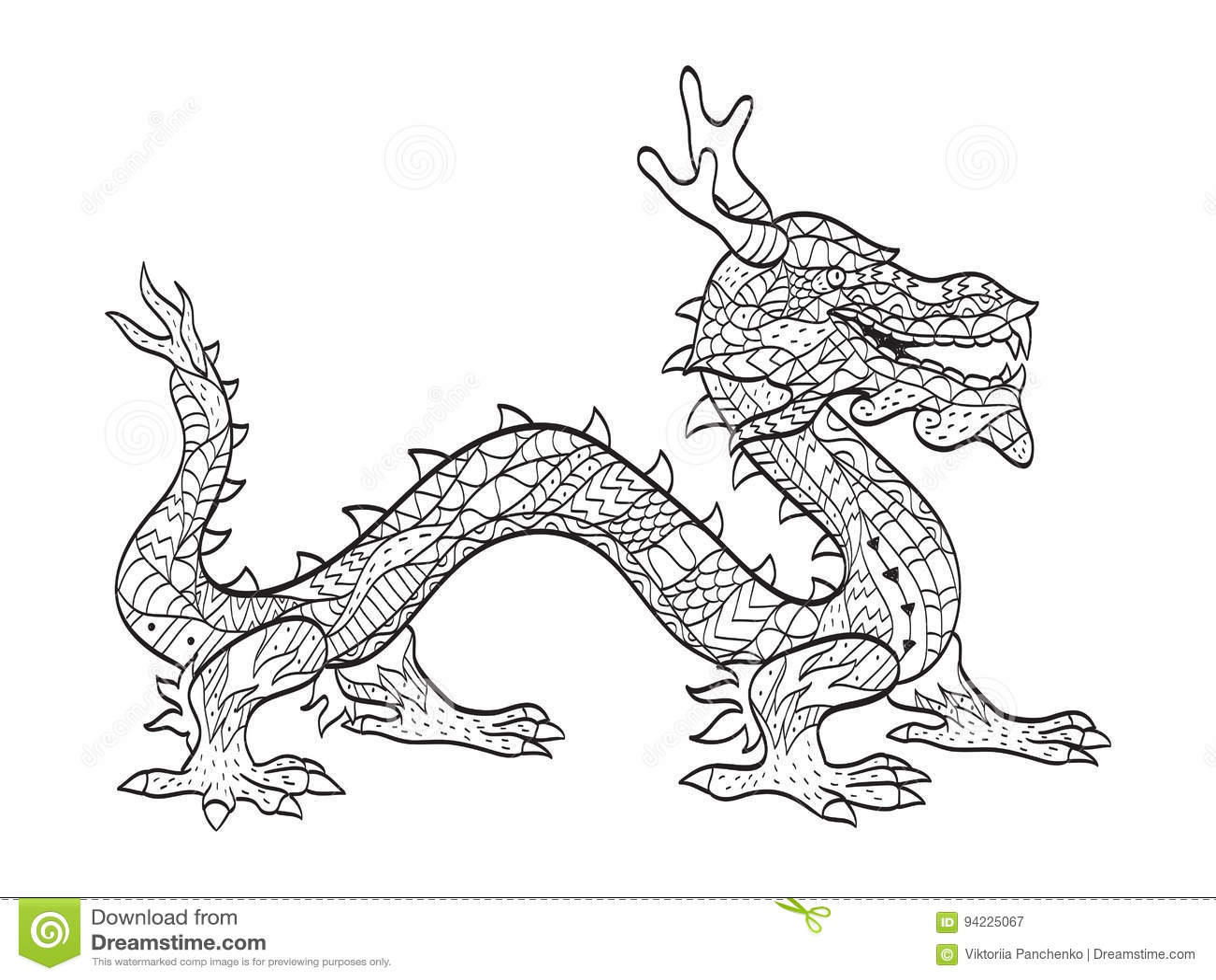 Contemporáneo Desafiante Dragón Para Colorear Ilustración - Dibujos ...