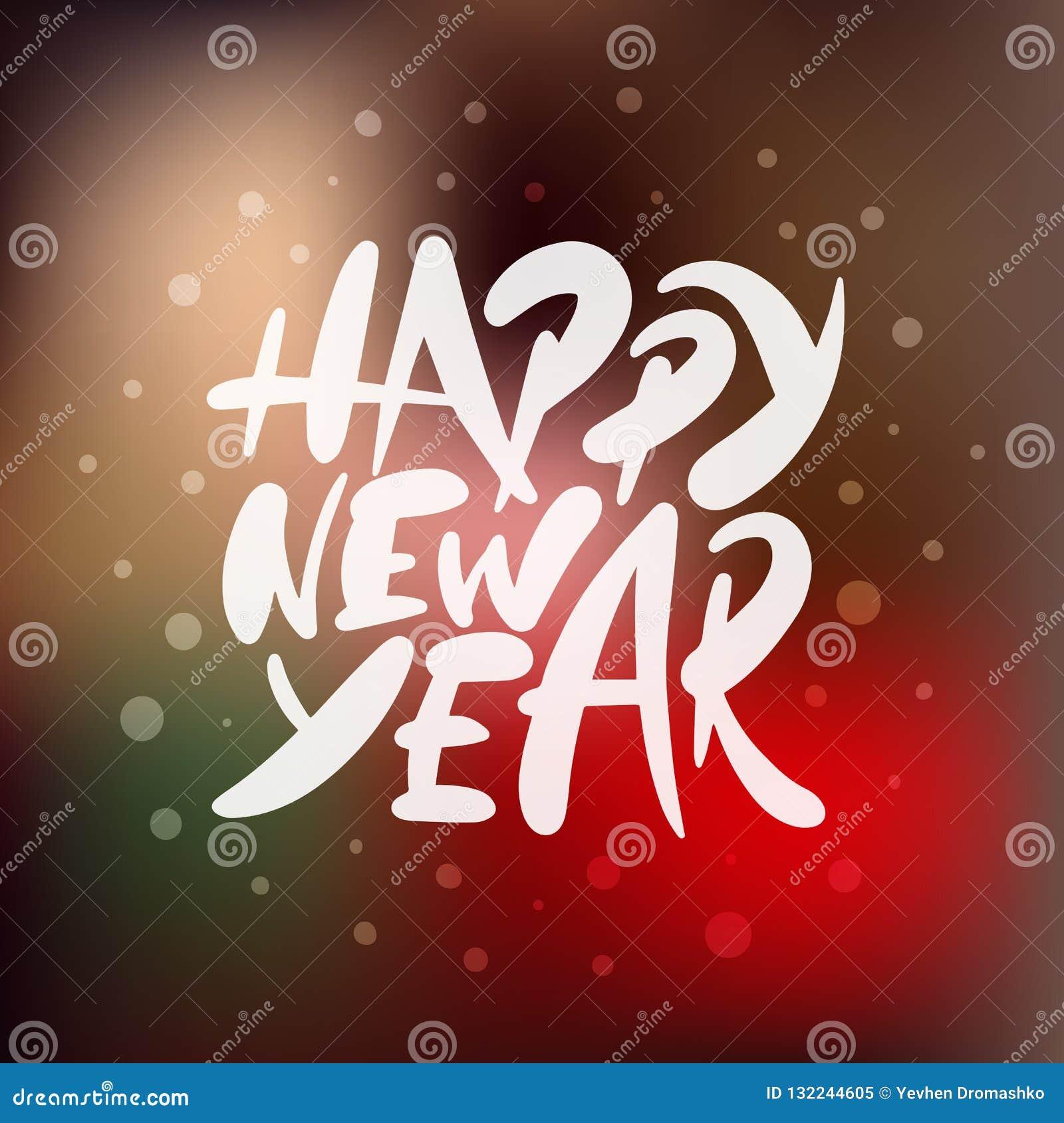 Vector Que Pone Letras A La Feliz Año Nuevo De La Frase Del