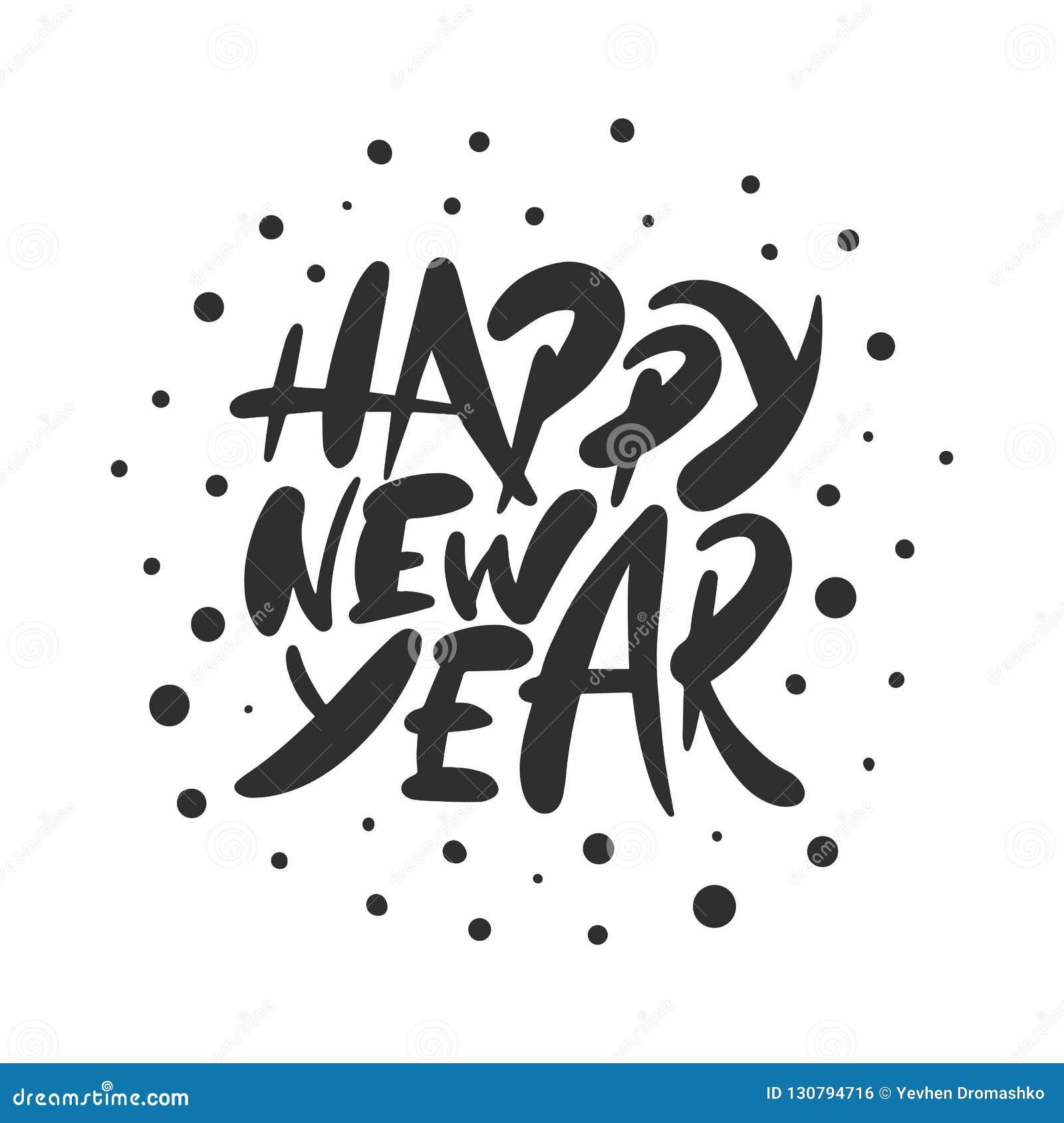 Vector Que Pone Letras A La Feliz Año Nuevo Para Los