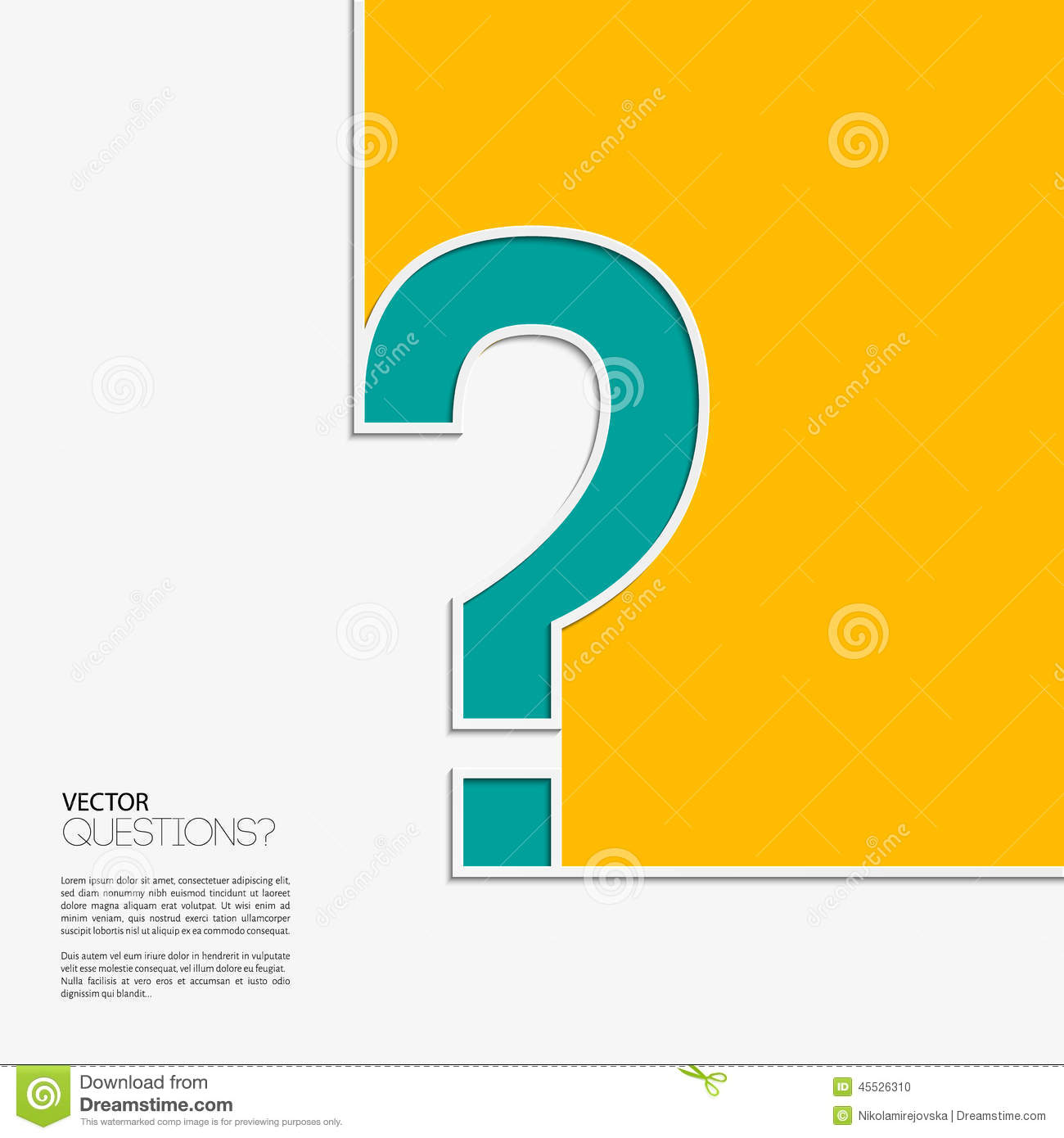 Vector question mark icon in flat design stock vector for Decor questions