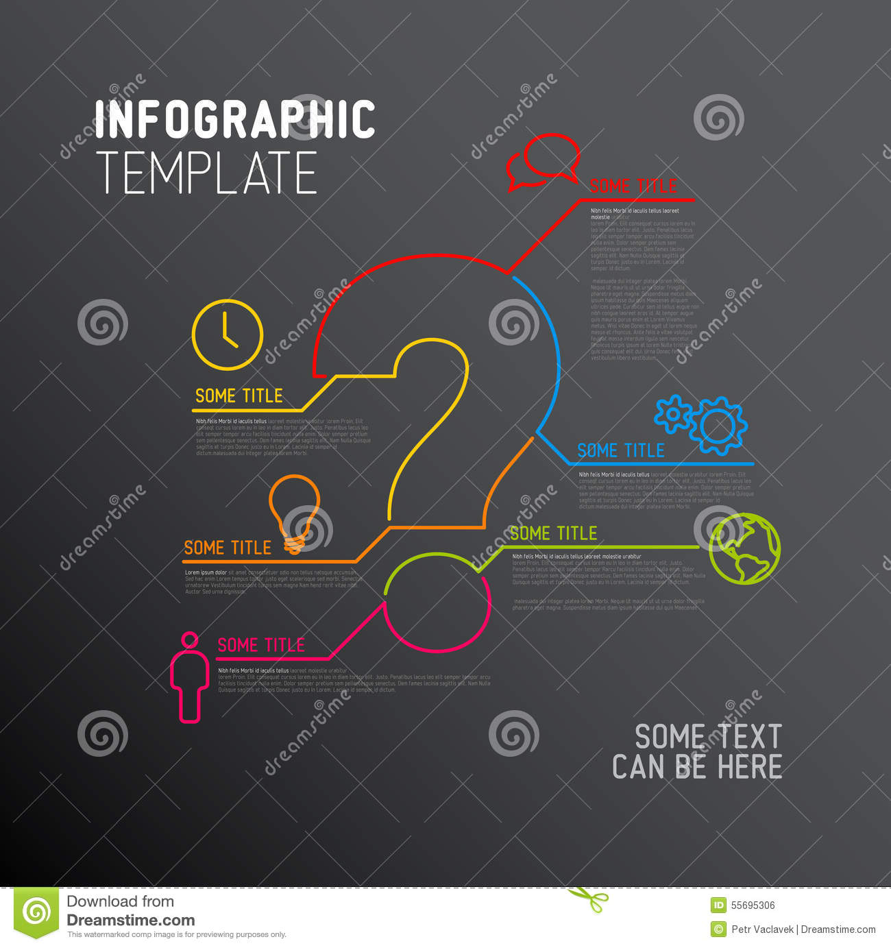 Vector Question Mark Infographic Report Template Stock Vector ...