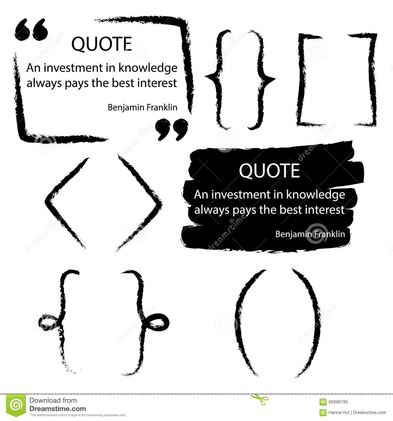 quote blank template stock vector image  vector quote blank template artistic quote bubble empty template grunge brush strokes