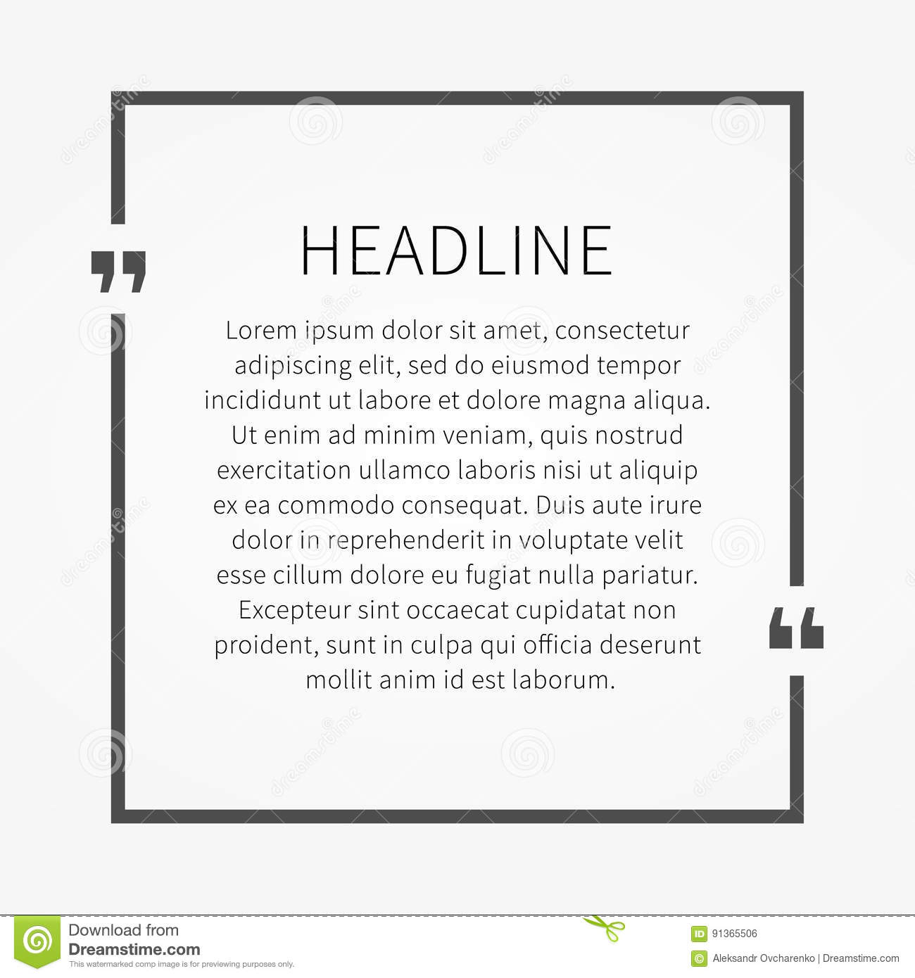 vector quote sample text template stock vector illustration of