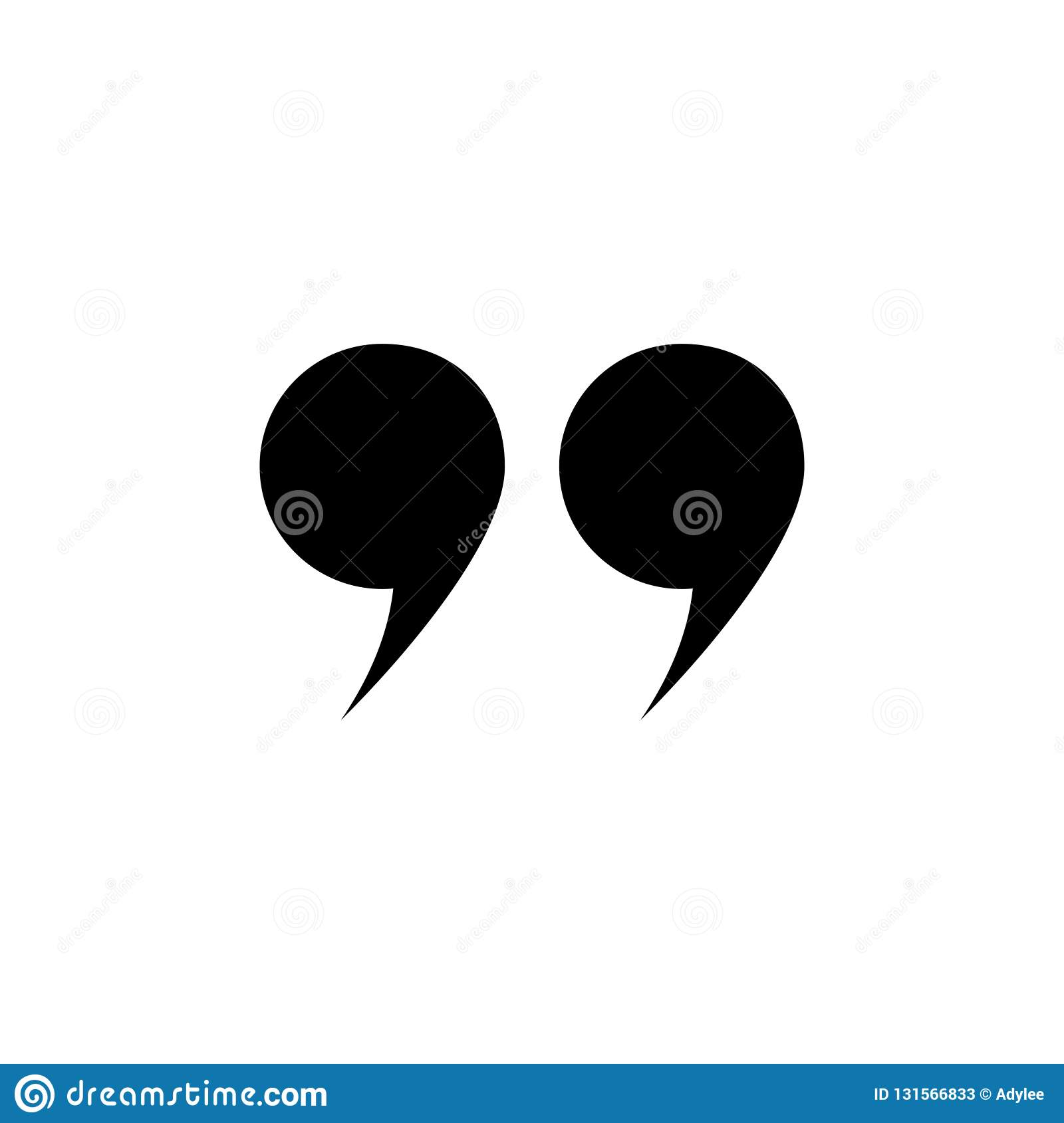 Vector Quotes Icon Stock Image Illustration Of Design 131566833