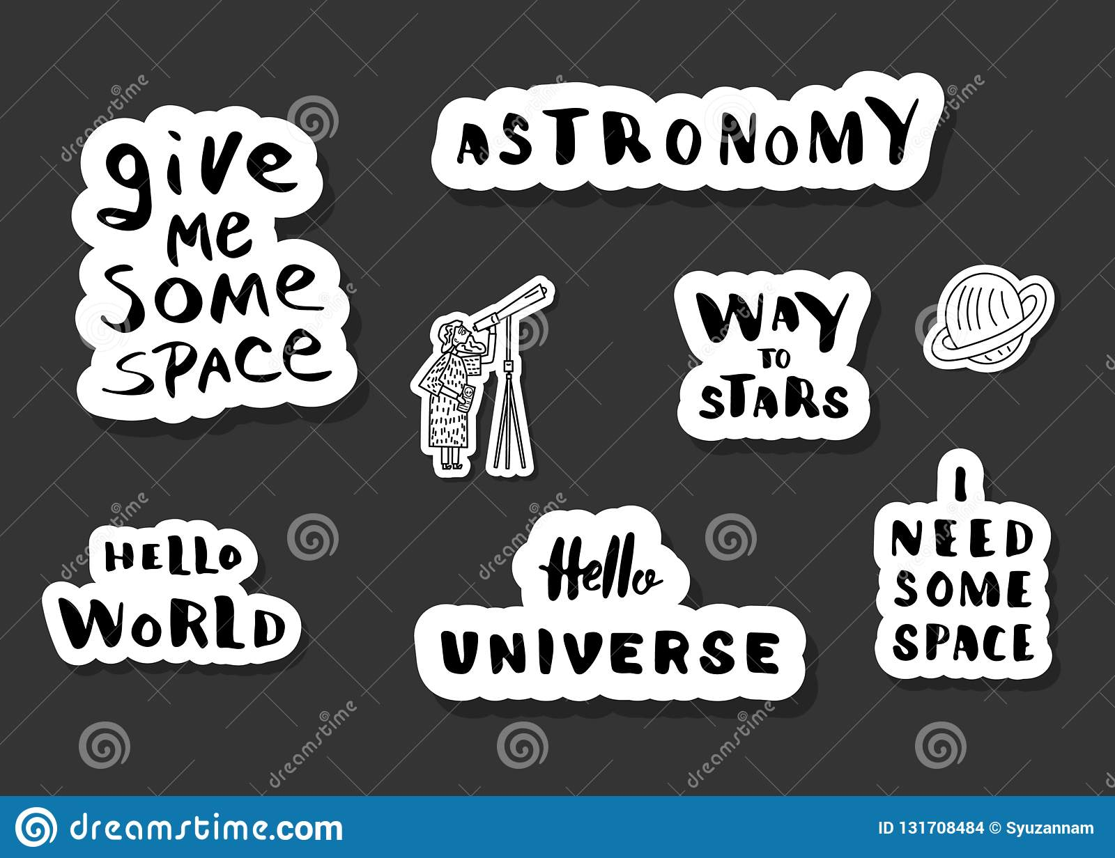 Vector Quote Of Univers With Decoration  Stock Vector