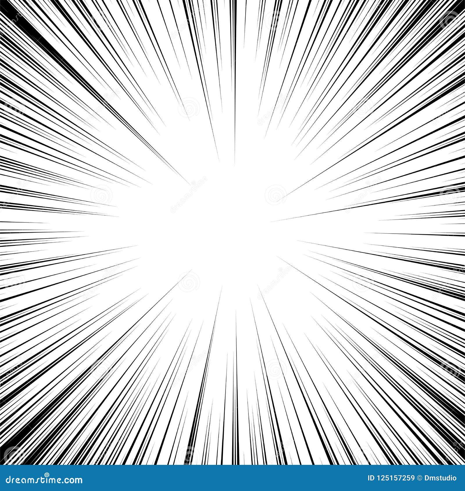 Vector radiaal snelheidsbeeldverhaal de achtergrond van de motielijn