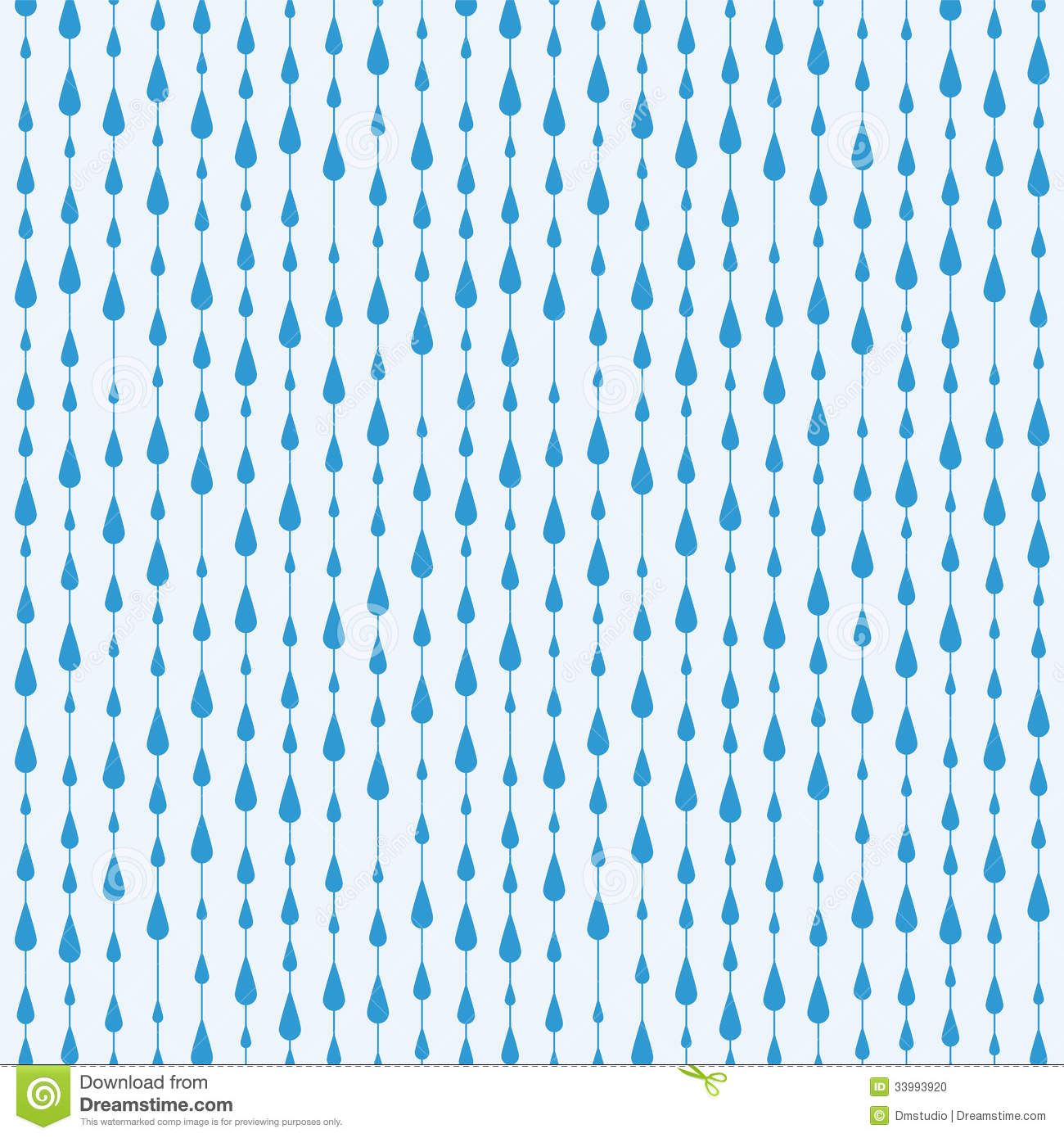 Vector Rain Drops Background Stock Photo - Image: 33993920
