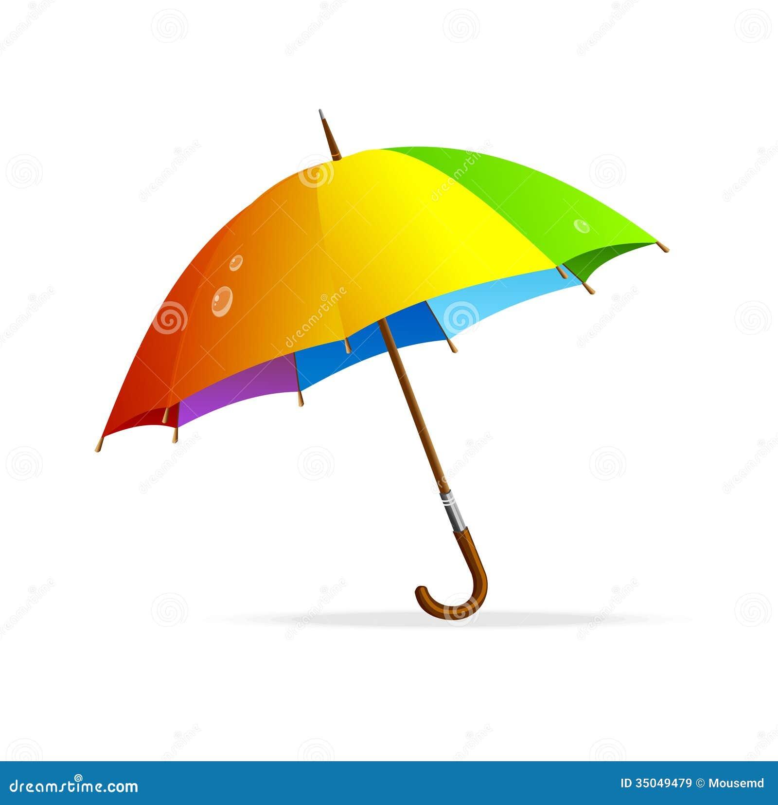 rainbow umbrella clip art - photo #15