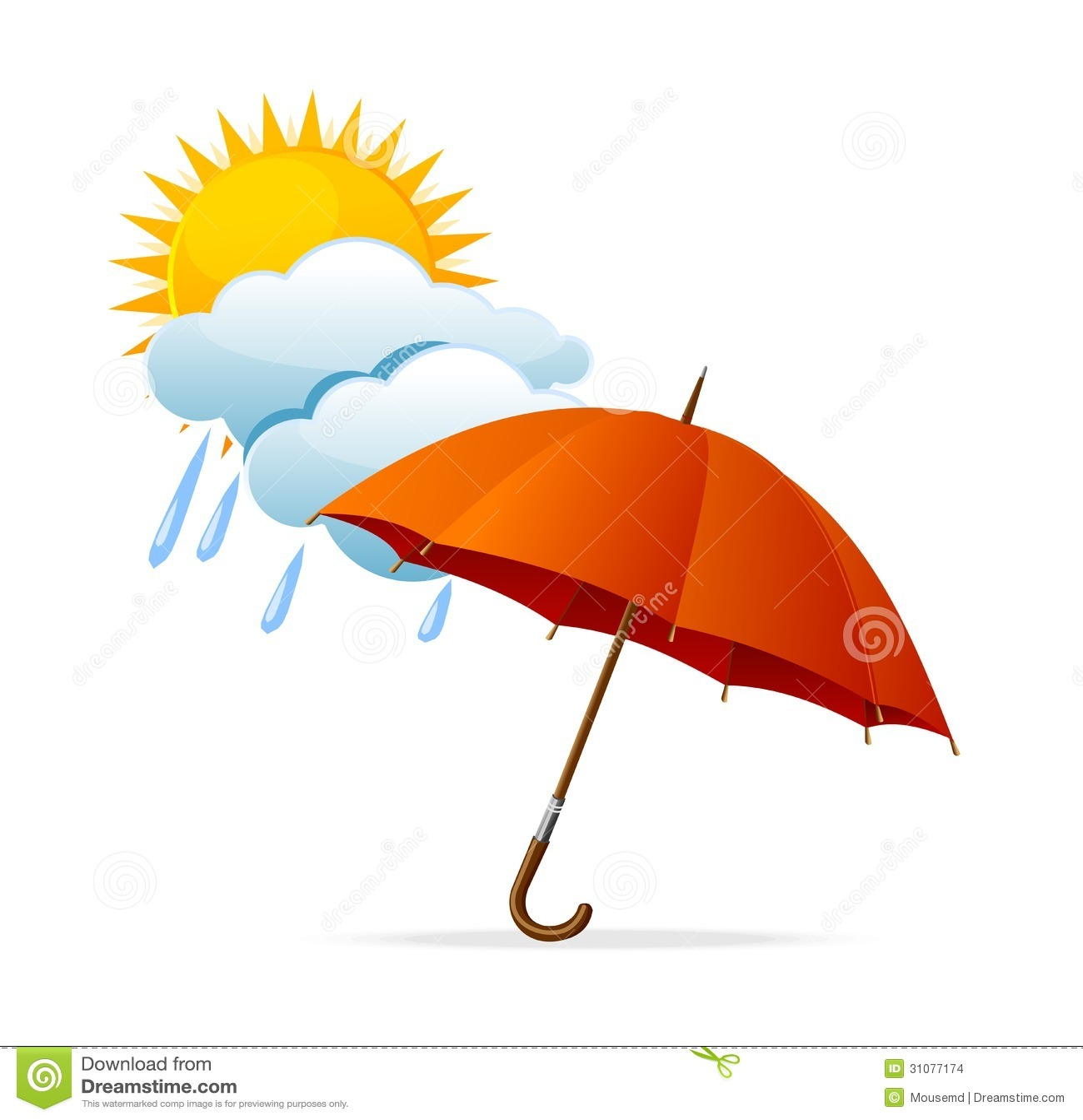 Vector Rainy Weather Icon Stock Images Image 31077174