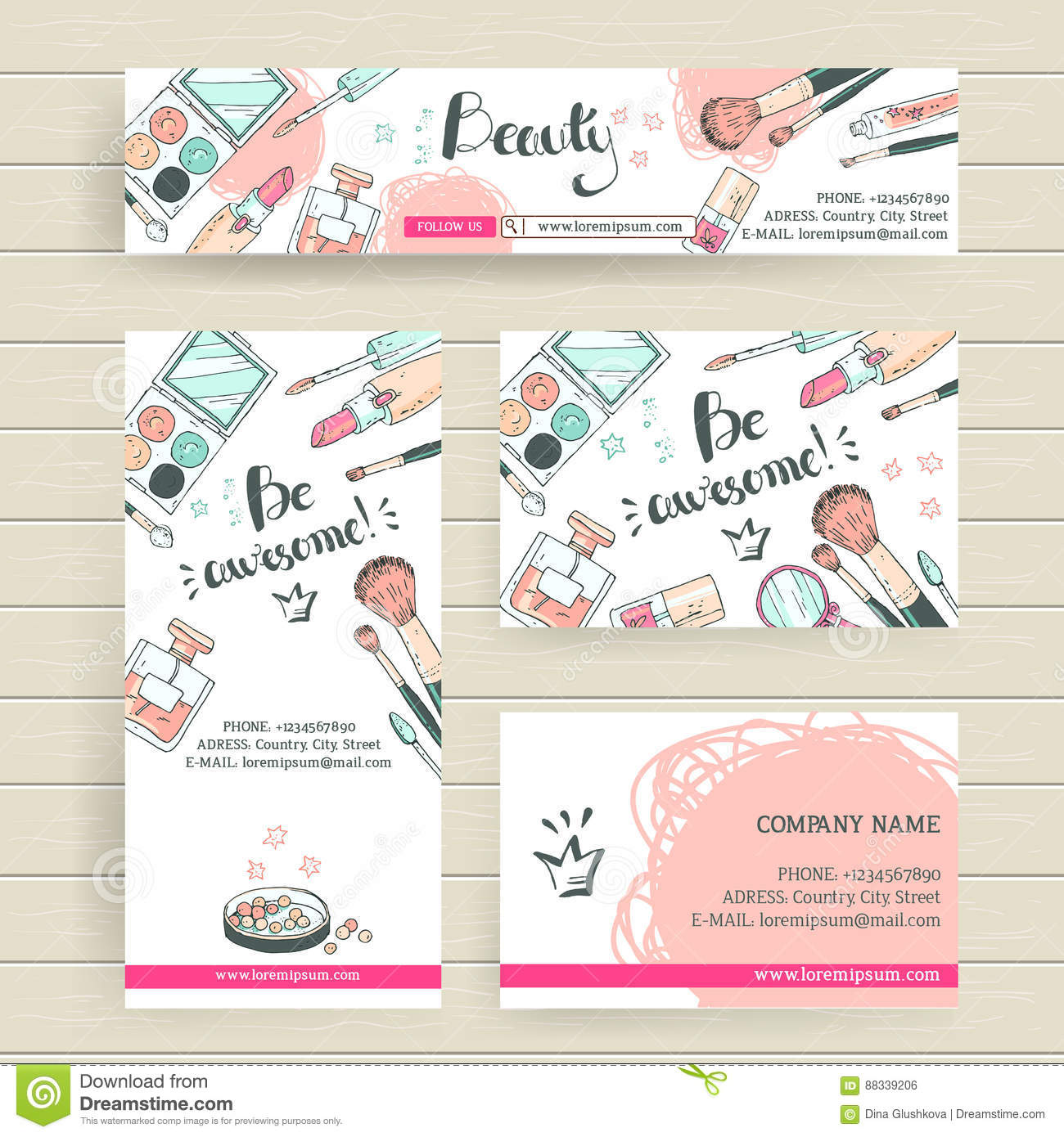 Vector Ready Design Template For Makeup Artist Makeup Studio Or