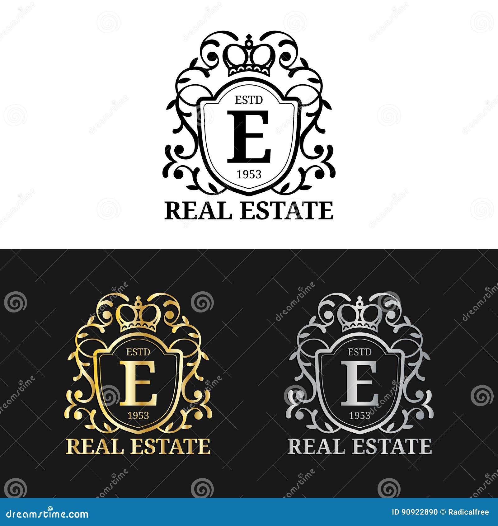 Monogram Templates | Vector Real Estate Monogram Logo Templates Luxury Letters Design
