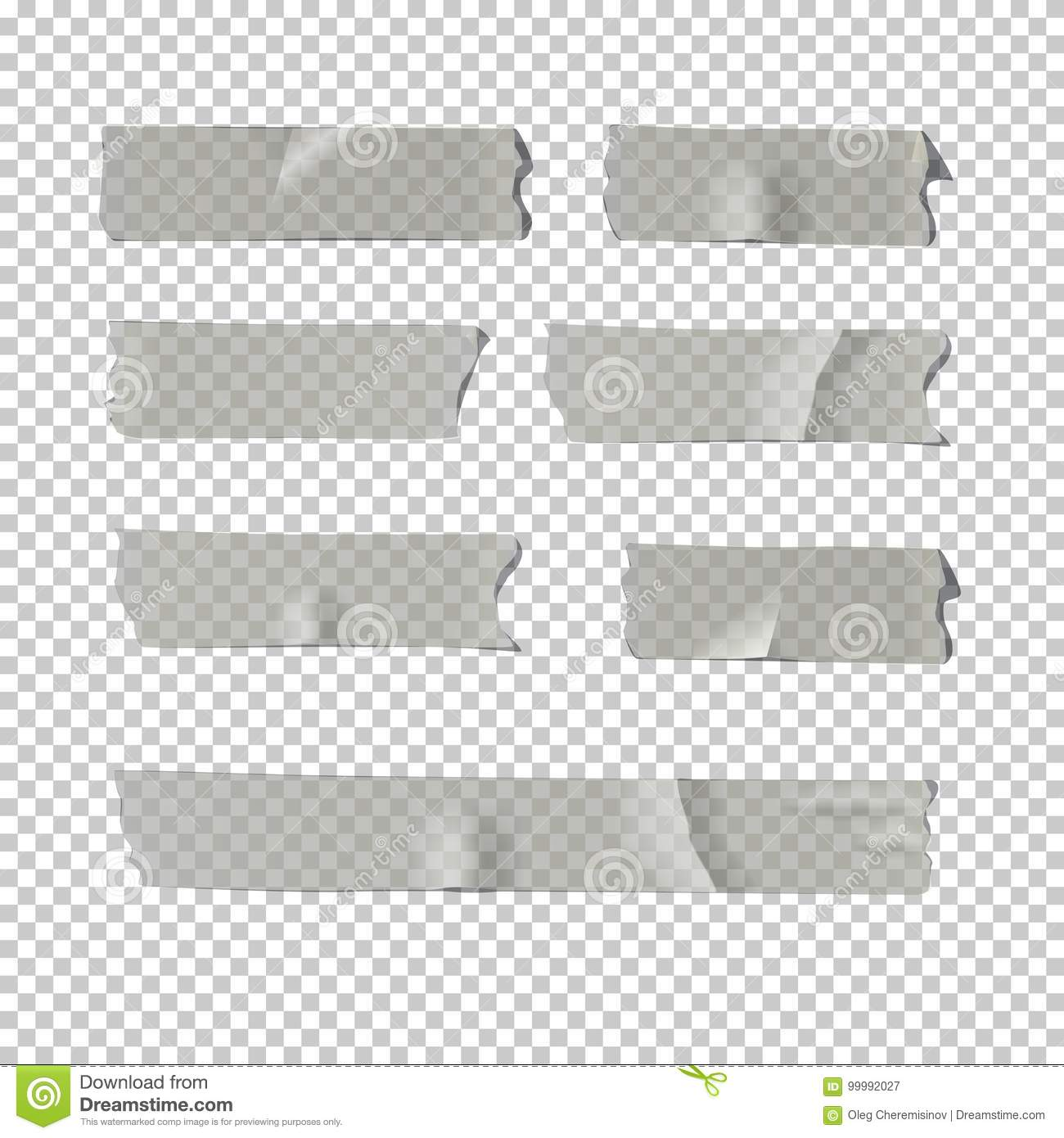 Adhesive Tape Set On Transparent Background Vector