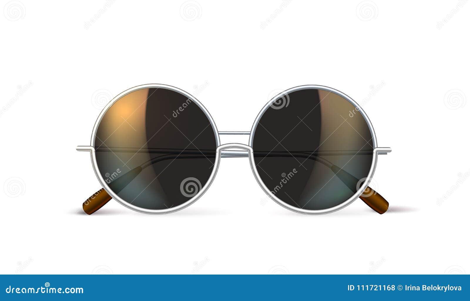 6ece7edbcfb1b Vector Realistic Eyeglasses Retro Circle Hipster Stock Vector ...