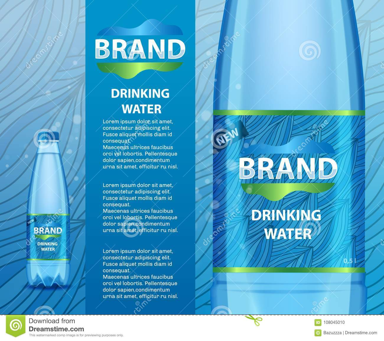 Best mineral water label template pictures aquamarine for Mineral water label template