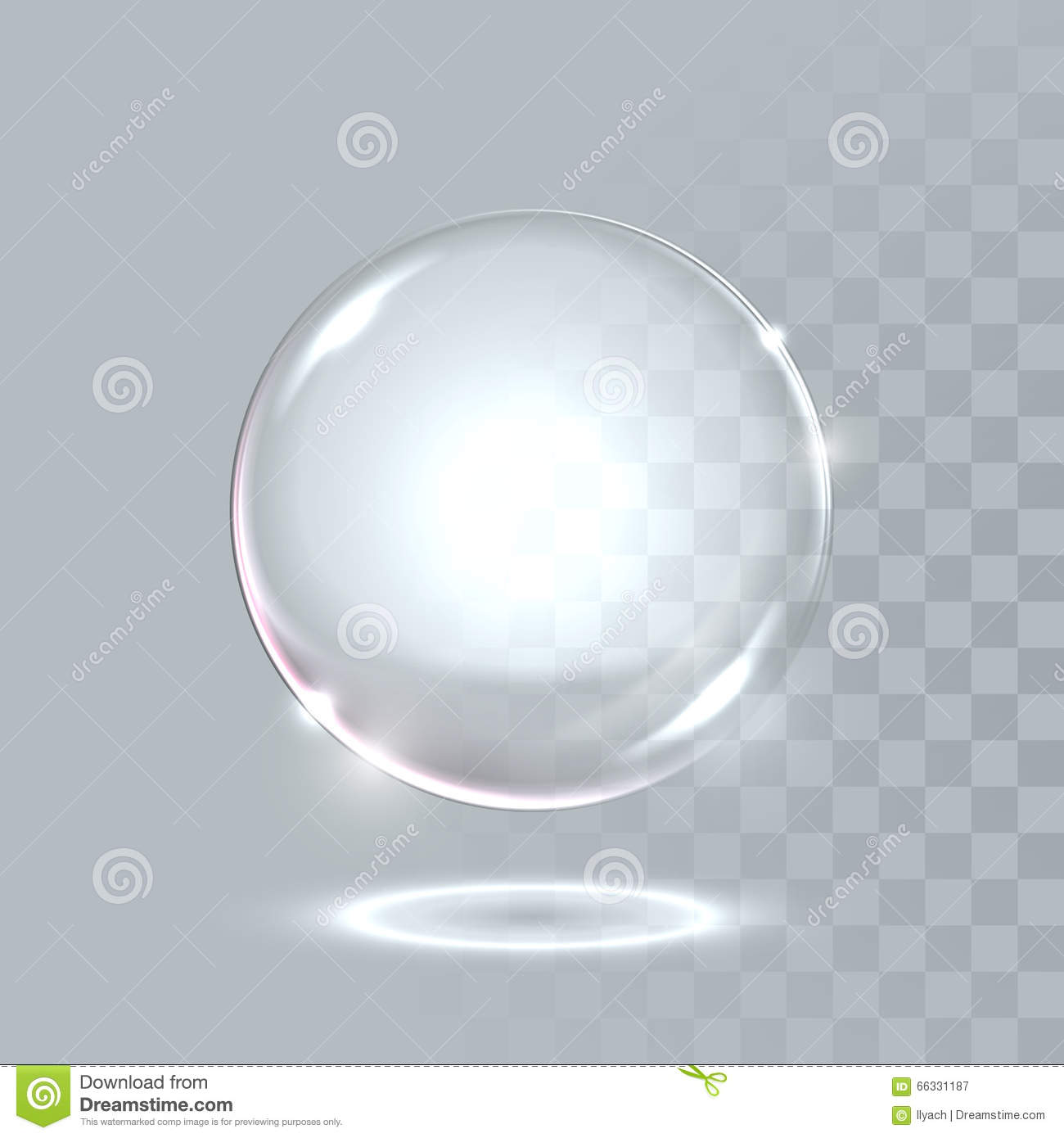 Vector realistic sphere crystal bubble drop stock for Crystal trasparente