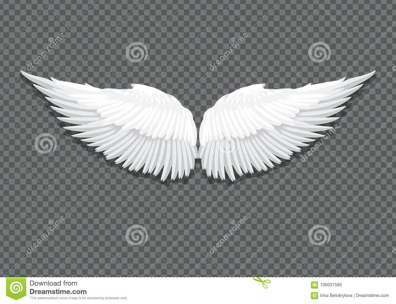 Vector realistic white angel wings on transparent stock vector vector realistic white angel wings on transparent biocorpaavc