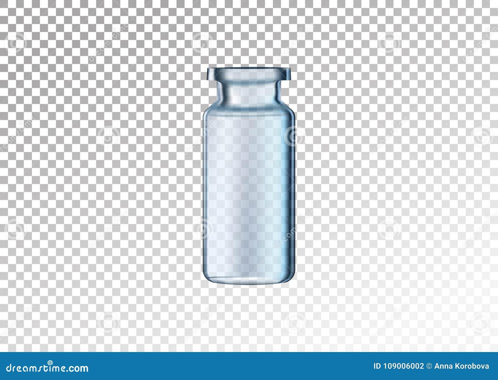 Vector realistische glasfles Kosmetische flesjes voor olie, essentiële vloeistof, collageenserum Vectordieillustratie op wit-tra
