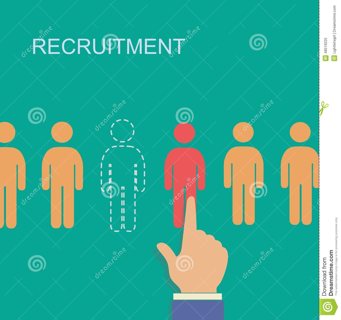 Vector recruitment and human resource infographics template with space ...