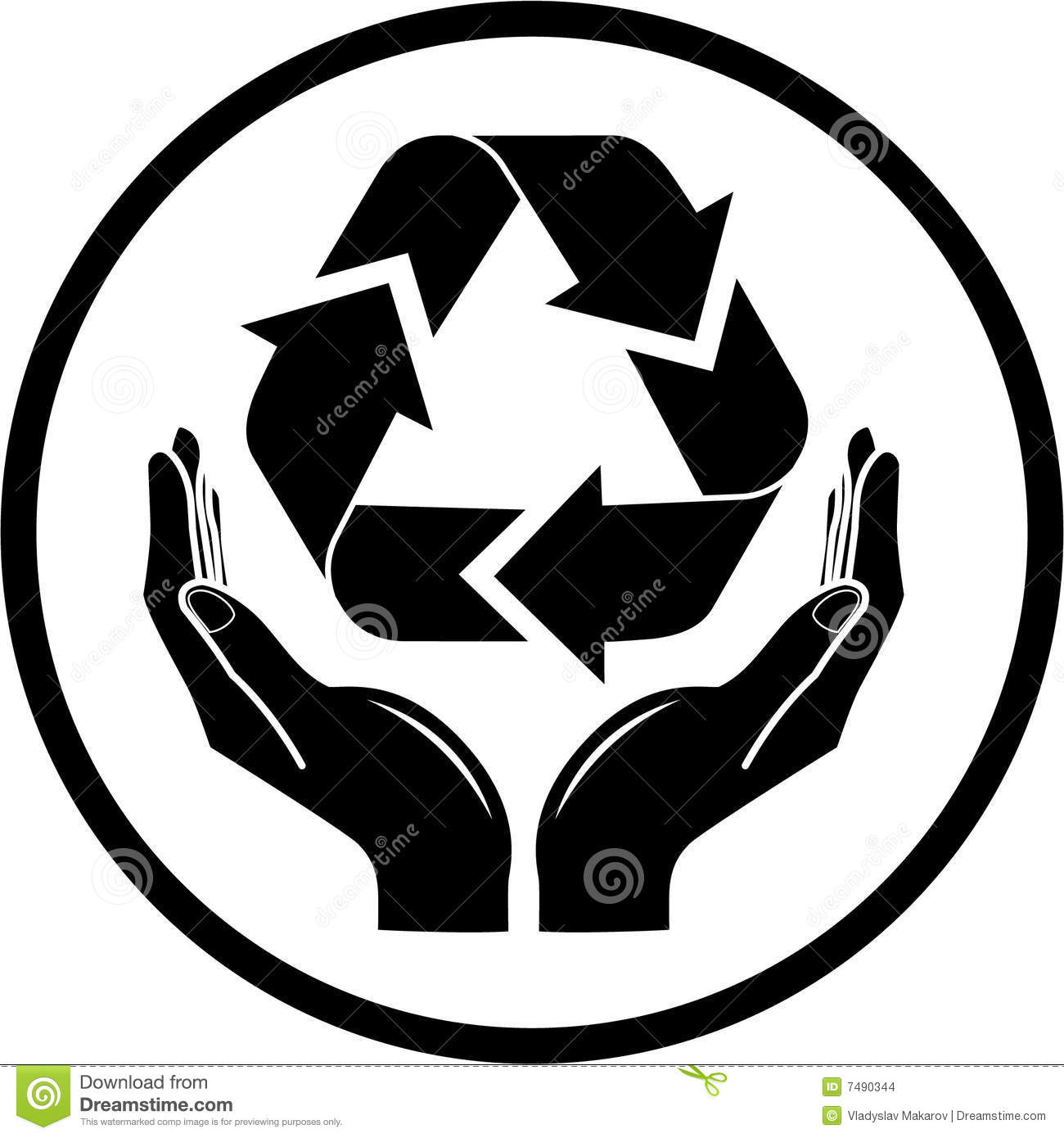 Vector recycle symbol in hands icon stock vector illustration of vector recycle symbol in hands icon biocorpaavc