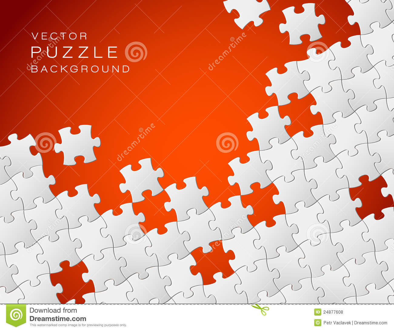 vector red background puzzle pieces royalty free stock