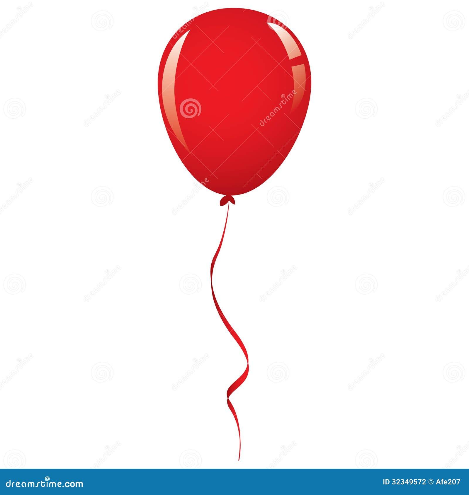 vector red balloon ribbon illustration 32349572 megapixl