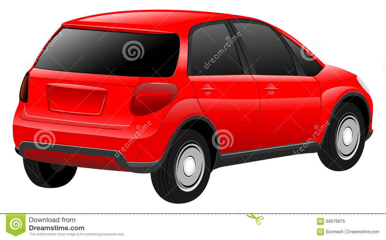 Vector Red Car Stock Vector - Image: 68876875