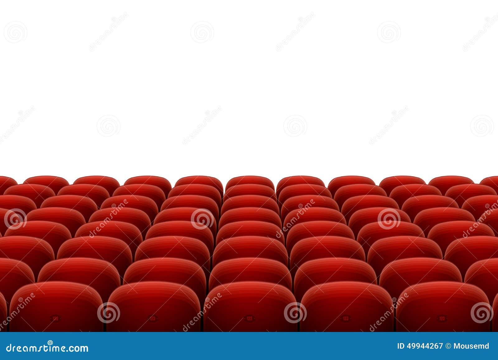 Vector Red Cinema Theatre Seats Stock Vector