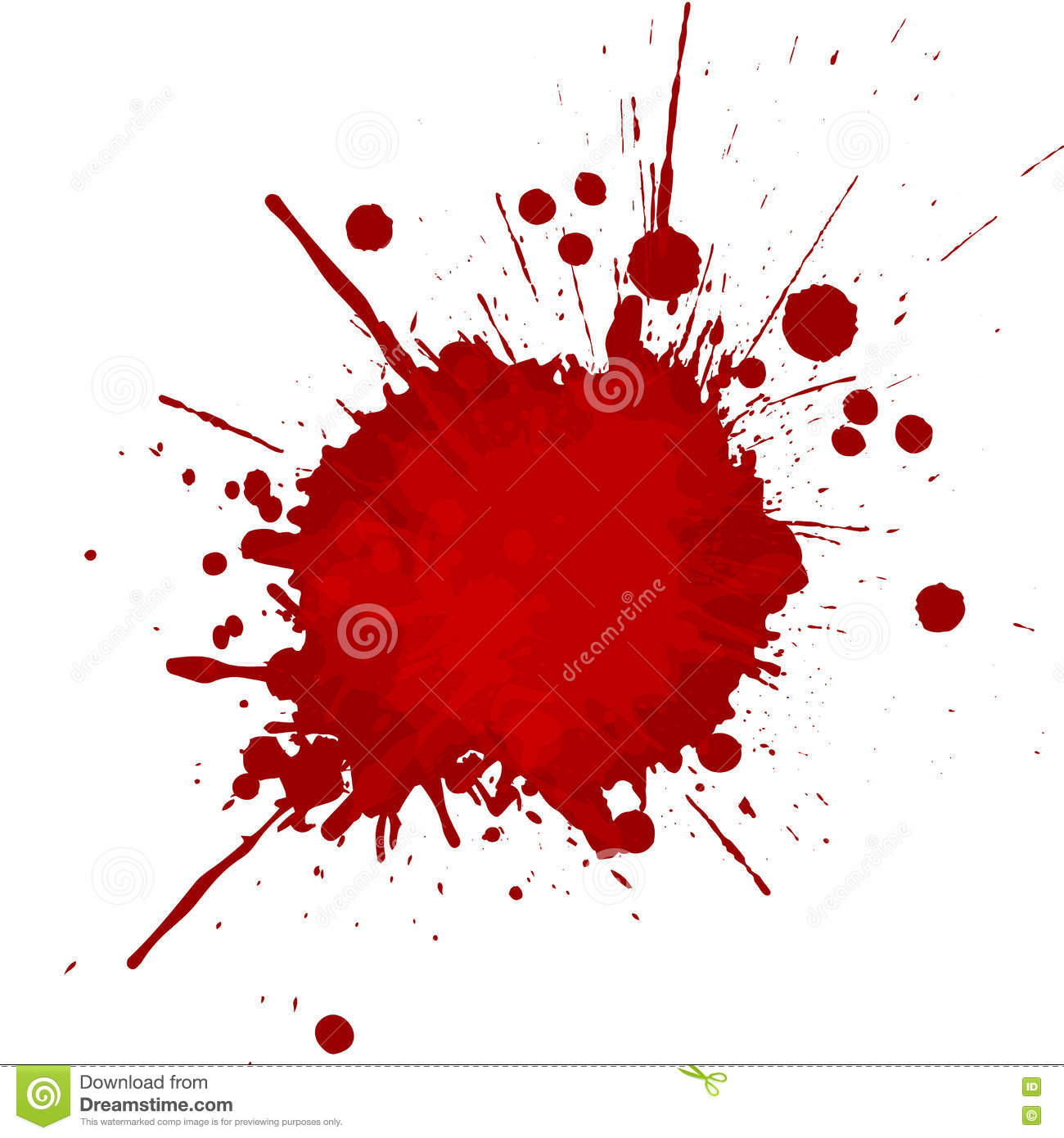vector paint splatter red color with white background and