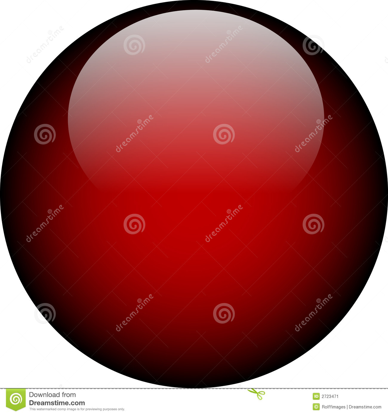 Vector Red Glass Button