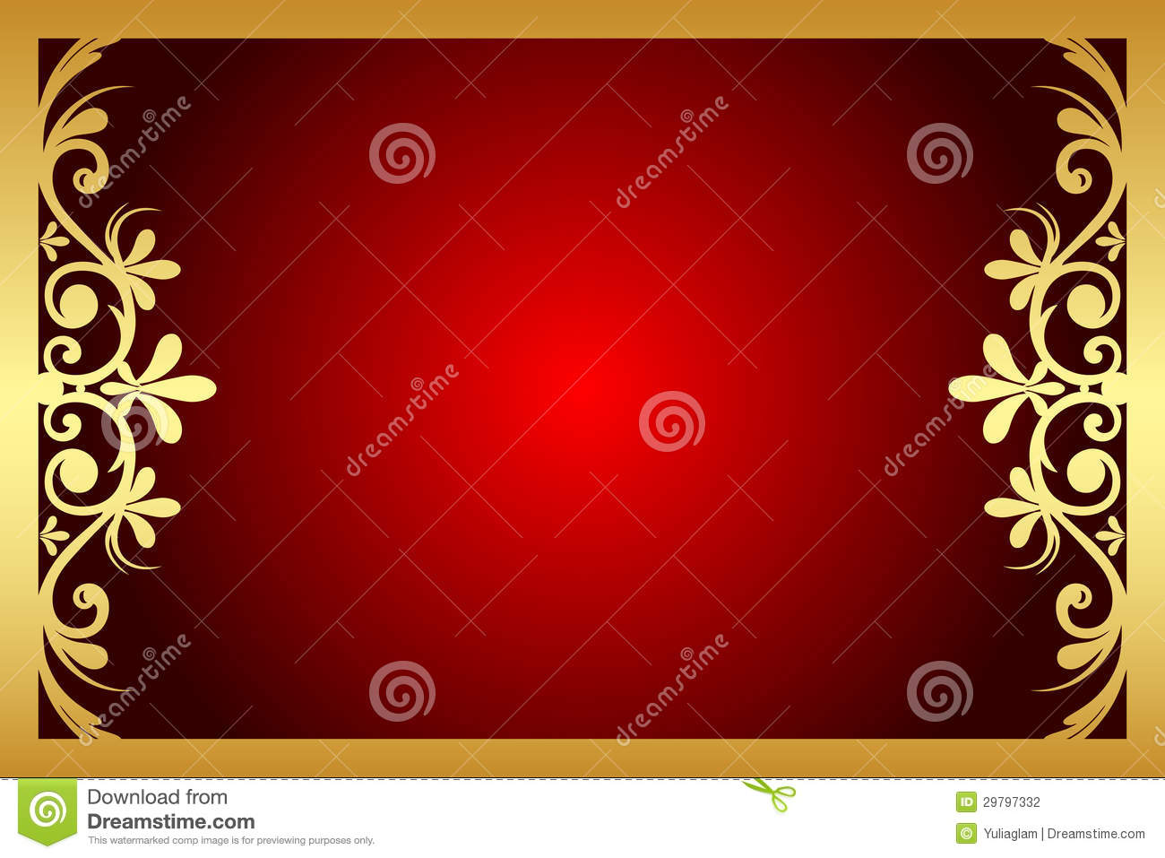 Red And Gold Floral Frame Stock Photography Image 29797332