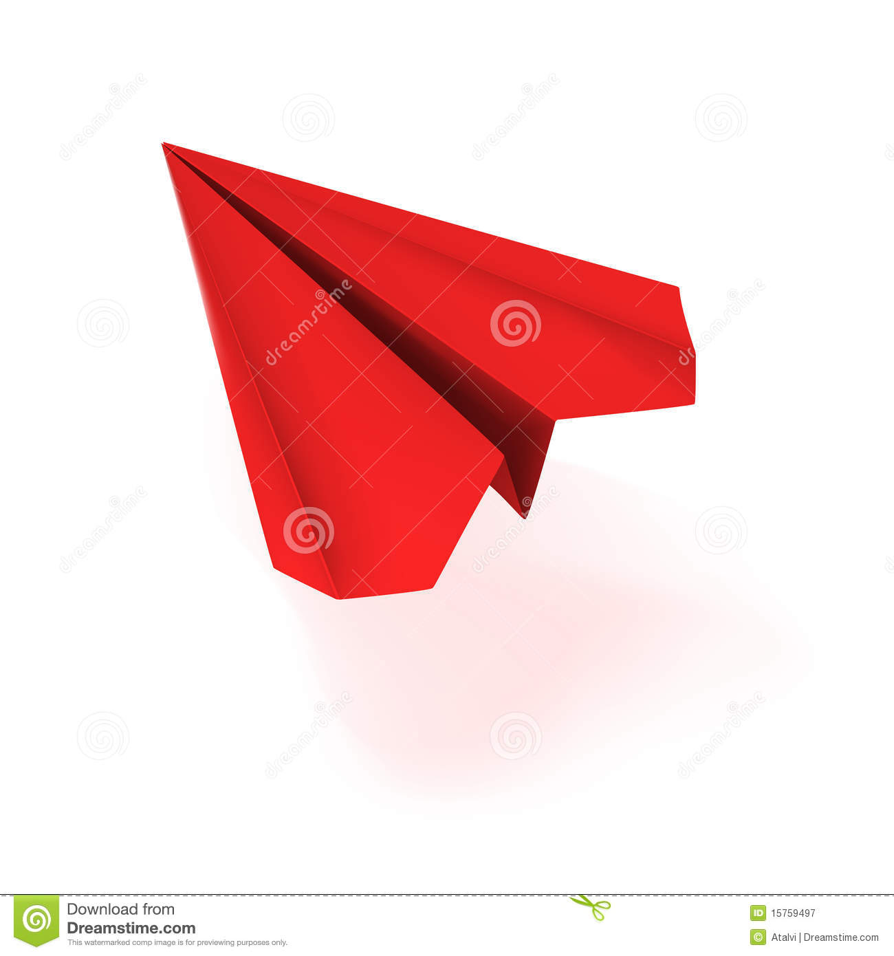 VECTOR Red Origami Plane Royalty Free Stock Photography ...